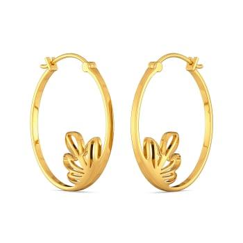 Floral Blooms Gold Earrings