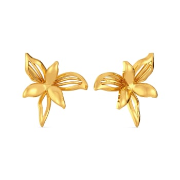 A Lily Link Gold Earrings