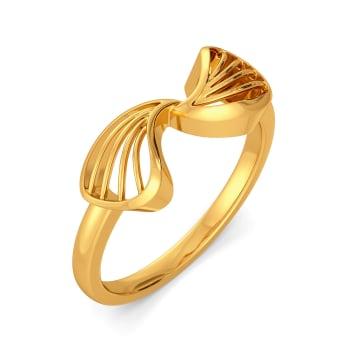 Pair A Petal Gold Rings