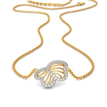 Femme Petale Diamond Necklaces
