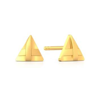 Triangle Trippin' Gold Earrings
