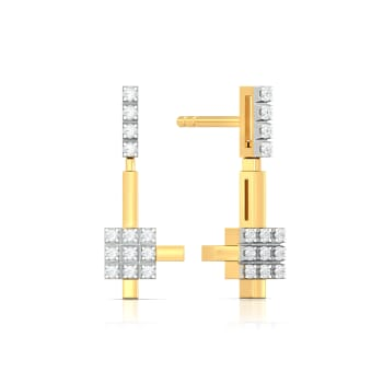 The Gingham Waltz Diamond Earrings