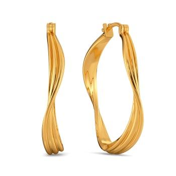 Dreamy Drapes Gold Earrings