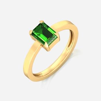 Green Pine Gemstone Rings