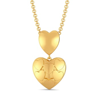 Club of Hearts Gold Pendants