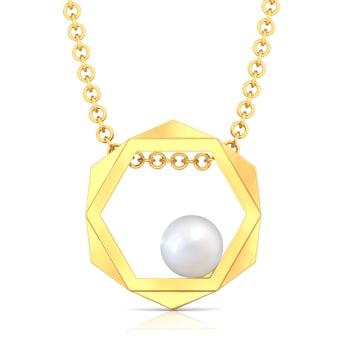 Hexagon Styling Gemstone Pendants