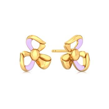 Prim & Purple Gold Earrings