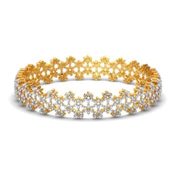 Lace Line Up Diamond Bangles