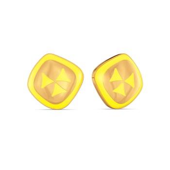 Dreamy Dapple Gold Earrings