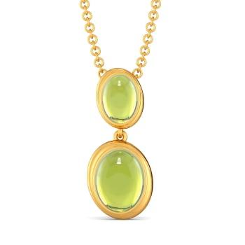 Green Groove Gemstone Pendants