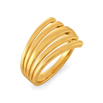 Arty Accents Gold Rings