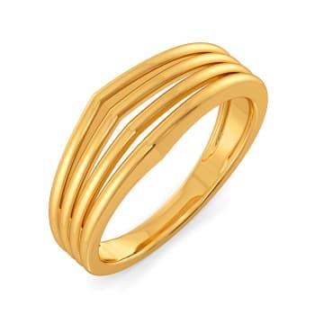 A Puffed Pair Gold Rings