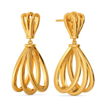 Whimsical Play Gold Earrings