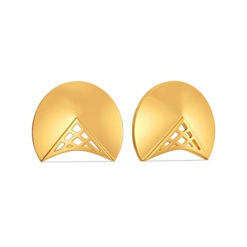 Dramatic Duet Gold Earrings
