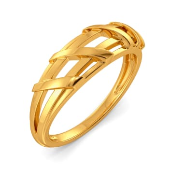 Edgy Elements Gold Rings
