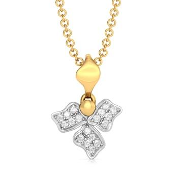 Sepal Steeple Diamond Pendants