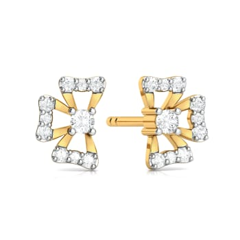 Quasi Floral Diamond Earrings