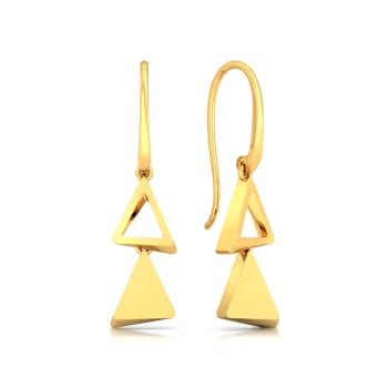 Three is Not a Crowd Gold Earrings