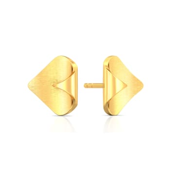Mint Play Gold Earrings