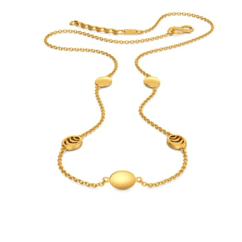 Oval Ambition Gold Necklaces