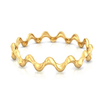 Ruffled Rave Gold Bangles