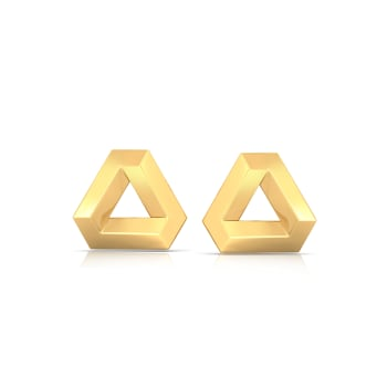 Binary Beauties Gold Earrings