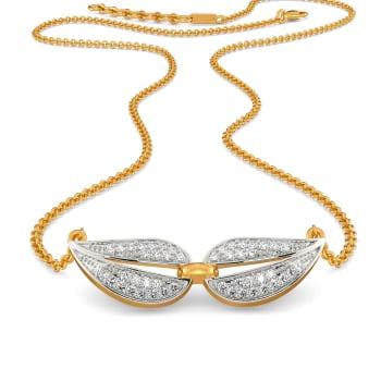 Twinning Paisley Diamond Necklaces