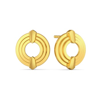 Solar Plisat Gold Earrings
