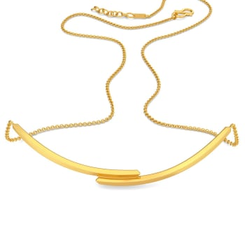 The Lone Tuck Gold Necklaces