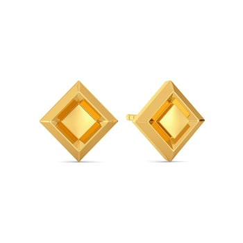 The Lone Tuck Gold Earrings