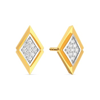 A Pleat Suite Diamond Earrings