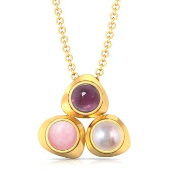 Cherry Blossom Gemstone Pendants