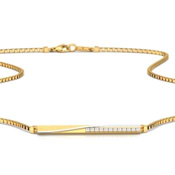Crossed Tracks Diamond Necklaces