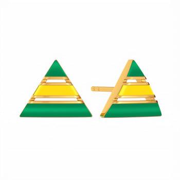 Graded in Green Gold Earrings