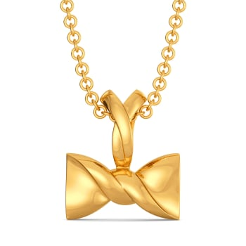 Bow Bends Gold Pendants