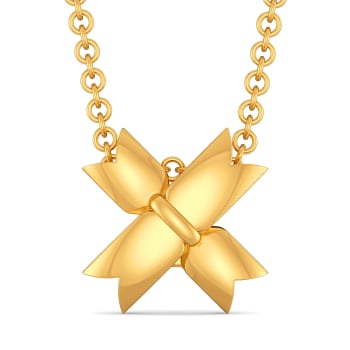 The Rule of Bow Gold Pendants