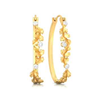 Spring Oak Diamond Earrings