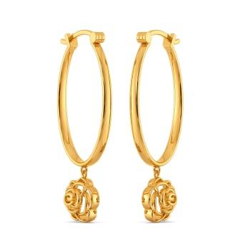 Rebel Love Gold Earrings