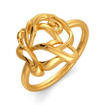Renaissance Roses Gold Rings