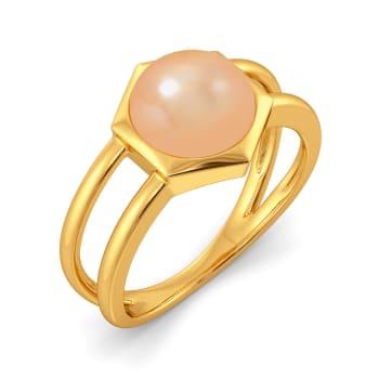 Peek A Peach Gemstone Rings