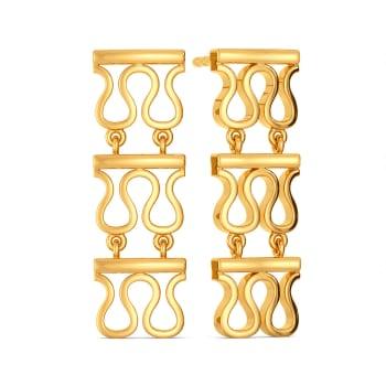 Knit Trivia Gold Earrings