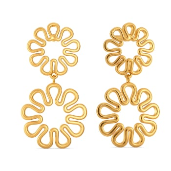 Knot in Knit Gold Earrings