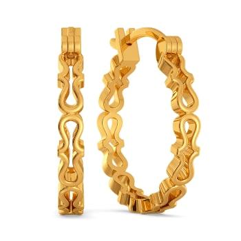 Knit Split Gold Earrings