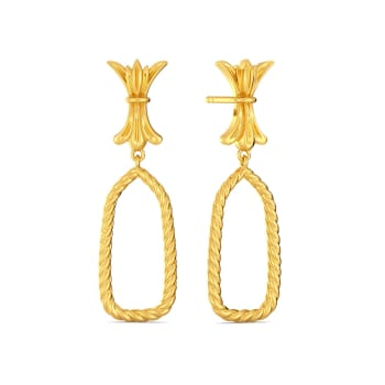 Bow Baroque Gold Earrings