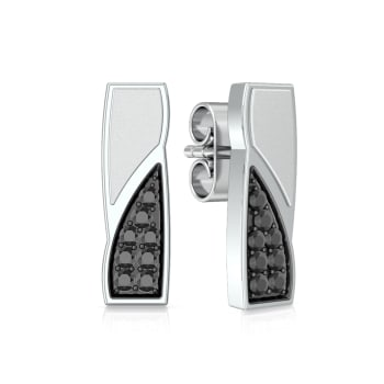 Matchstick  Diamond Earrings