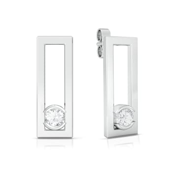 Framed brilliance  Diamond Earrings