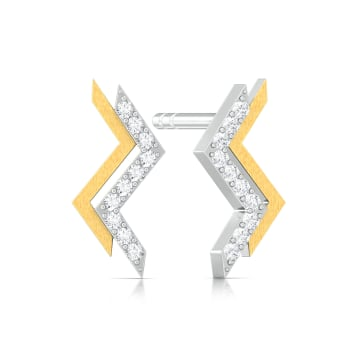 Tribal Chevrons Diamond Earrings