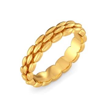 Tweed Links Gold Rings