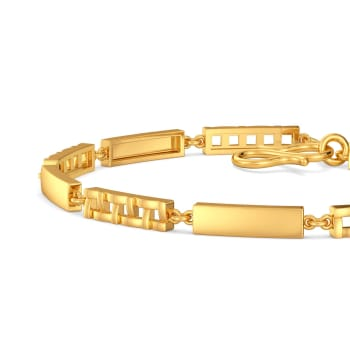 The Plaid Play Gold Bracelets
