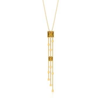 Linear Swing Gemstone Pendants